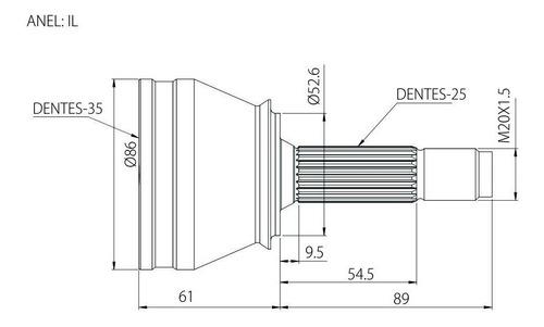 junta homocinetica renault duster 2.0 16v 10 manual/automat