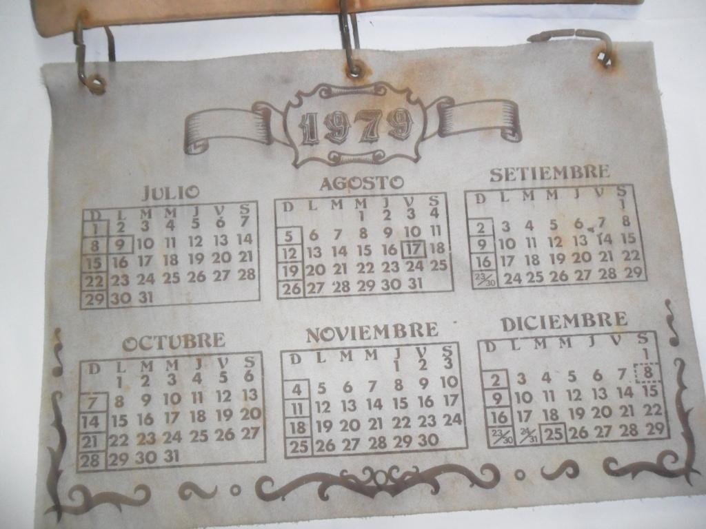 Calendario Del 1979.Junta Nacional De Granos 1979 Cuero Juan Arancio Calendario 399 00