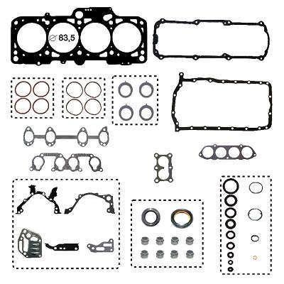 junta retifica motor c/ret cabeç metal pack spacefox 2.0 8v
