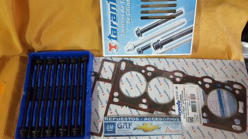 junta tapa cilindros + bulones chevrolet astra 2.0 diesel