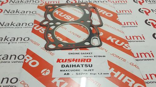 junta tapa cilindros daihatsu wide 55 cuore 2 cil 1979-1983