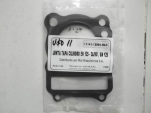junta tapa de cilindro original alfa  suzuki en125 gn125