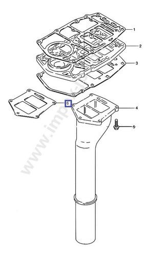 junta tubo de escape / silenciador - suzuki original dt25-30