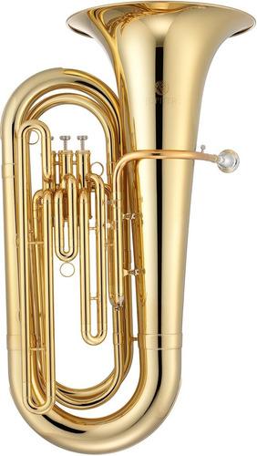 jupiter jcb-382l tuba 3 pist, bb, laqueado dorado, c/ estuch