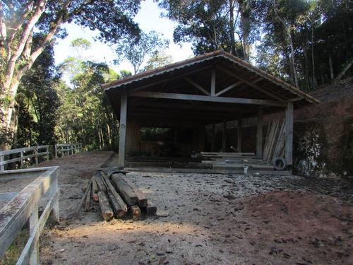 juquitiba - terreno com galpão/2.700 mts/rancho ref 04436