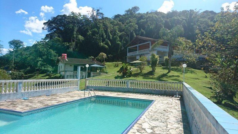juquitiba/chácara plana/lago/piscina/bela sede/ref:04889