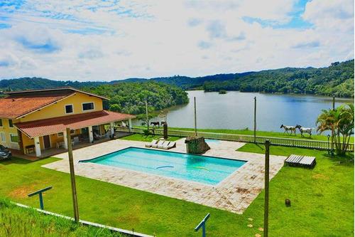 juquitiba/sitio na represa com piscina/ac permuta/ref:04850