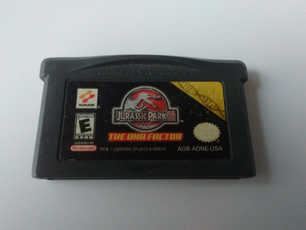 Jurassic Park 3 Dna Factor Gba Game Boy Advance - $ 120 00