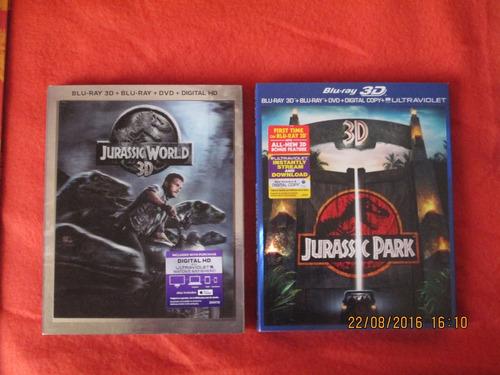 jurassic park 3d+ blu ray+ dvd +copiadigital nuevo importad