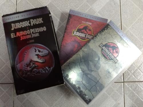 jurassic park edición de colección 2 peliculas vhs