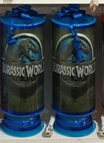 jurassic world 10centros mesa lámpara38cm personalizad envío