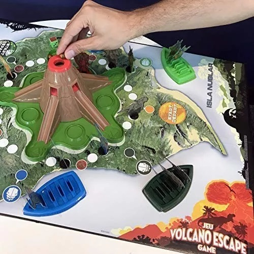 Jurassic World Escape Del Volcan Juego De Mesa 1 049 90 En