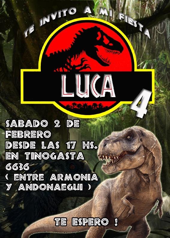 Jurassic World Invitación Tarjeta Digital Imprimible Whatsap