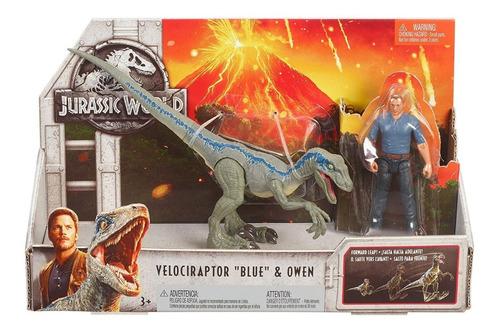 jurassic world pack velociraptor blue y owen mattel fmm51