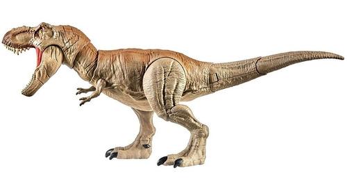 jurassic world t-rex mega-ataque mattel dino rivals gct91