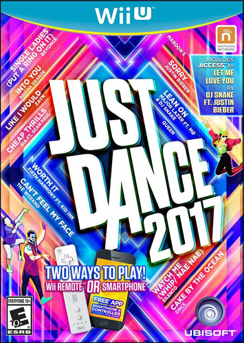 just dance 2017 - wiiu - disco fisico - entrega inmediata