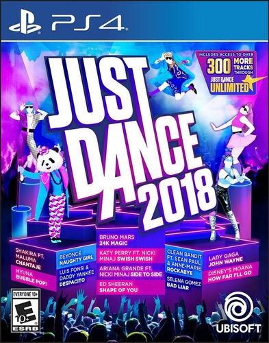 just dance 2018 ps4 físico original sellado envio gratis