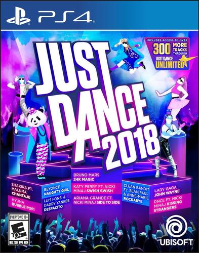 just dance 2018 video juego videojuegos ps4 nuevo fisico
