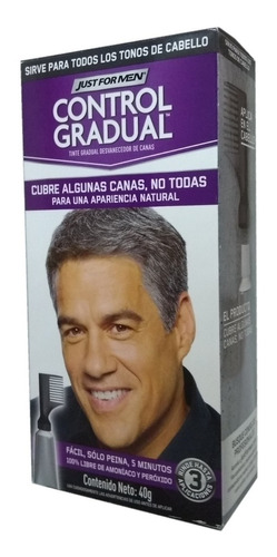 just for men control gradual cubre algunas canas pack 6un