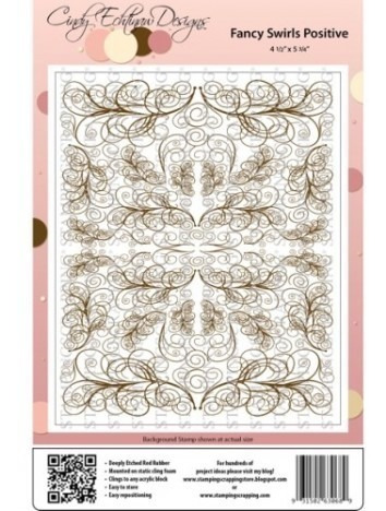 just rite cling stamps background fancy swirls (carimbos)