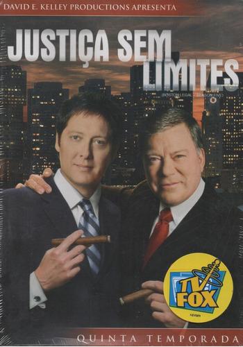 justiça sem limites 5ª temporada - box com 4 dvds - novo