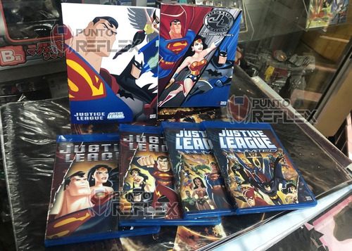 justice league collection bluray box