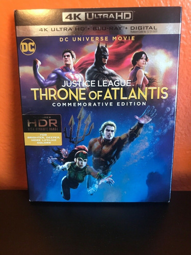 justice league: throne of atlantis 4k + blu-ray + digital hd
