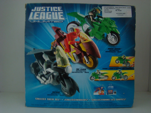 justice league unlimited - green arrow - motocycle - jlu