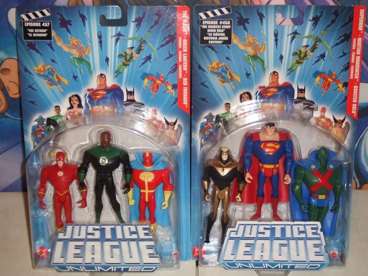 Justice League Unlimited Red Tornado, Superman, Booster ... Red Son Justice League