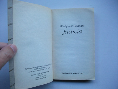 justicia - wladyslaw reymont - novelista polaco - nobel 1924