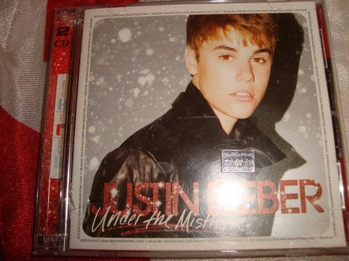 justin bieber under the mistletoe audio cd + dvd caballito*