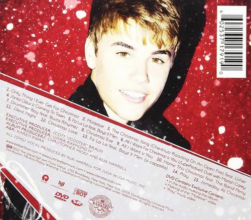 justin bieber under the mistletoe cd + dvd nuevo sellados