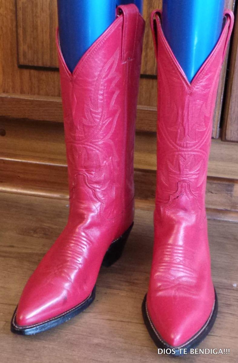 guapo mejores zapatillas de deporte estilo de moda Justin Botas Vaqueras Cowboy De Mujer Rojas 35 - $ 60.990