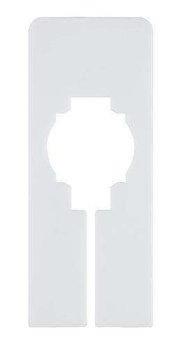 juvale 60-pack white blank rectangle hanger dividers for clo