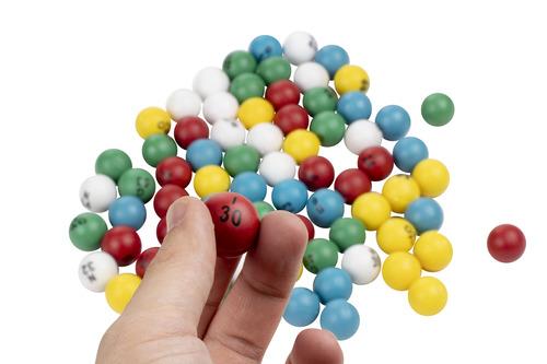 juvale multicolor plástico bingo bolas 175ping pong b