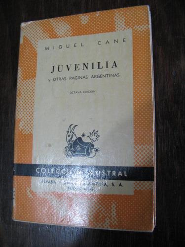 juvenilia. m. cané