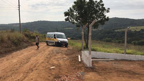 jv lote 1000m2 c/água e luz- portaria/segurança por r$43 mil
