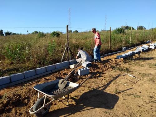 jv lotes planos com água/luz 70% já construído compre já