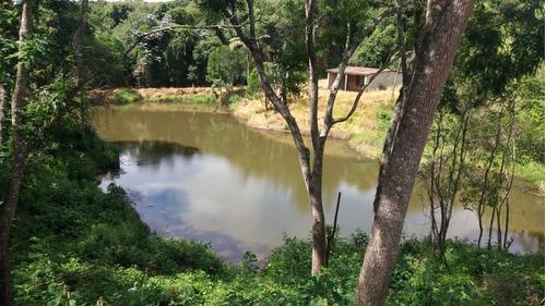 jv terreno com água e luz em ibiúna - lago para pesca