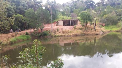 jv terreno com água e luz- lago p/ pesca em ibiúna