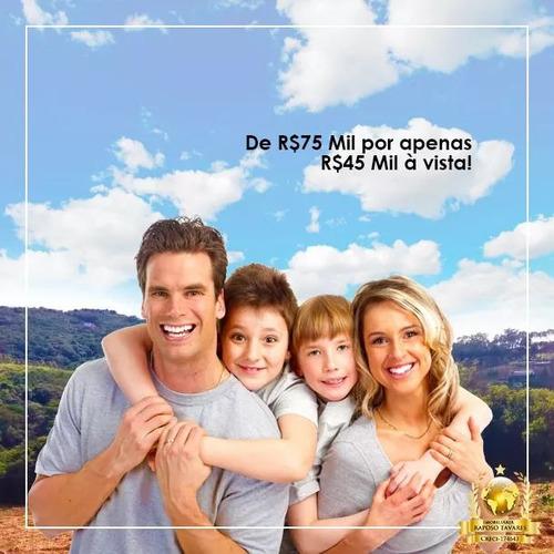 jv terrenos com 500m2 planos - água e luz apenas r$24999