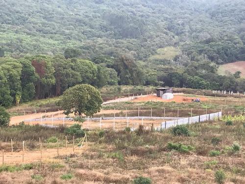 jv  terrenos p/ sua chácara 1000m2 ñ é cond com água e luz