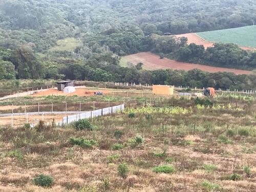 jv terrenos planos c/1000m2 demarcados portaria