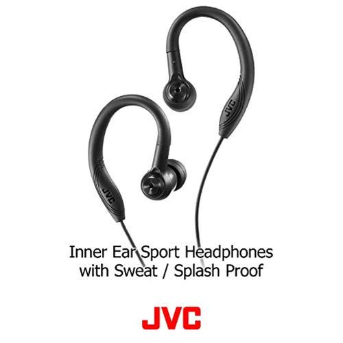 jvc earclip earbud sport black  haec10b