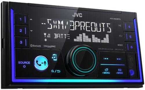 jvc kwx830bts doble din car audio usb bluetooth digital med