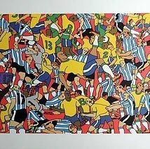 jvicttor gravura serigrafia assinada  brasil x argentina