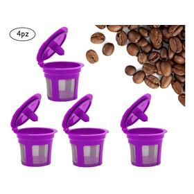 K-cups - 4 Cápsulas Cafe Reutilizables Para Cafetera
