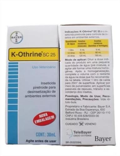 k-othrine sc 25 30ml uso veterinário - kit com 4 unidades