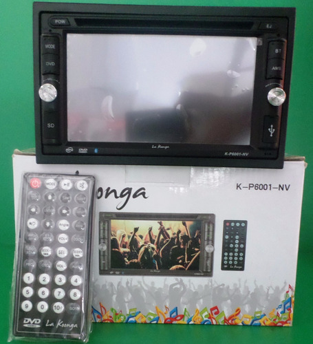 k-p6001-nv rep. mp3 cd/dvd bt 2 din la koonga touch screen