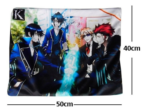 k project saruhiko mikoto reisi funda de almohada de 40 x 50